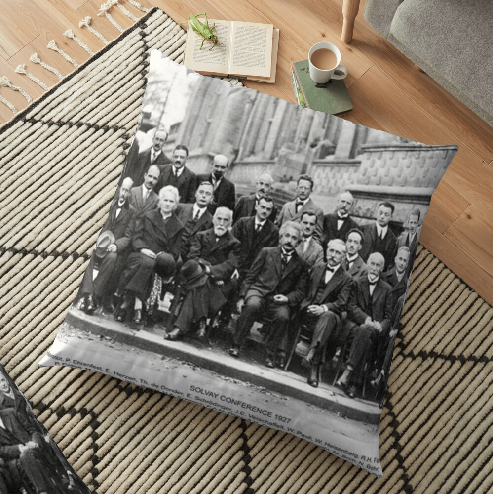 Solvay Conference  Floor Pillow