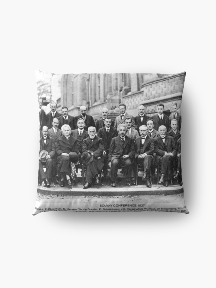 Alternate view of Solvay Conference  Floor Pillow