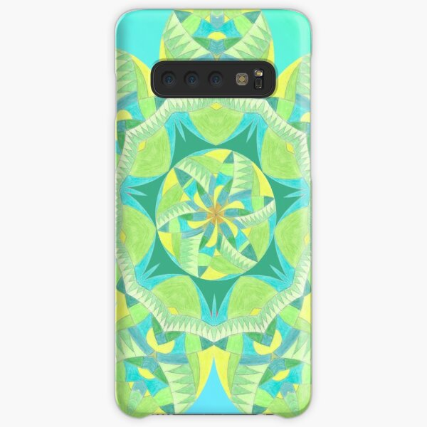 Grasshopper Katydid Leaves and Fauna Fall Into Winter Collection by Green Bee Mee Samsung Galaxy Snap Case
