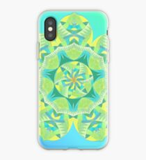 Grasshopper Katydid Leaves and Fauna Fall Into Winter Collection by Green Bee Mee iPhone Case