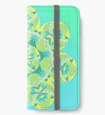 Grasshopper Katydid Leaves and Fauna Fall Into Winter Collection by Green Bee Mee iPhone Wallet/Case/Skin