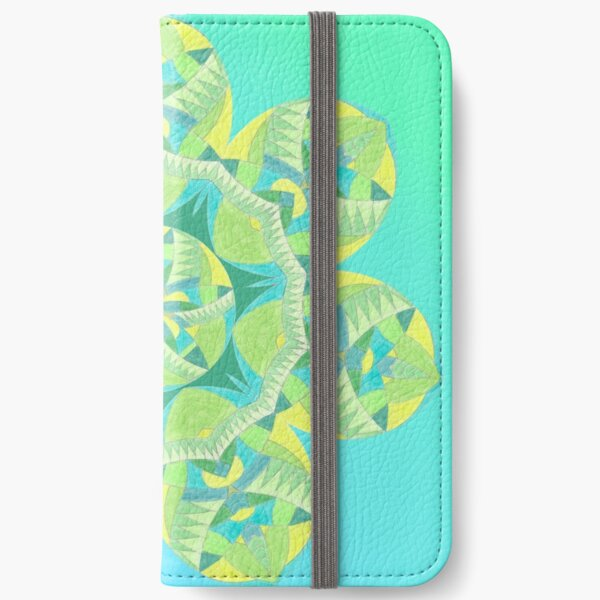 Grasshopper Katydid Leaves and Fauna Fall Into Winter Collection by Green Bee Mee iPhone Wallet