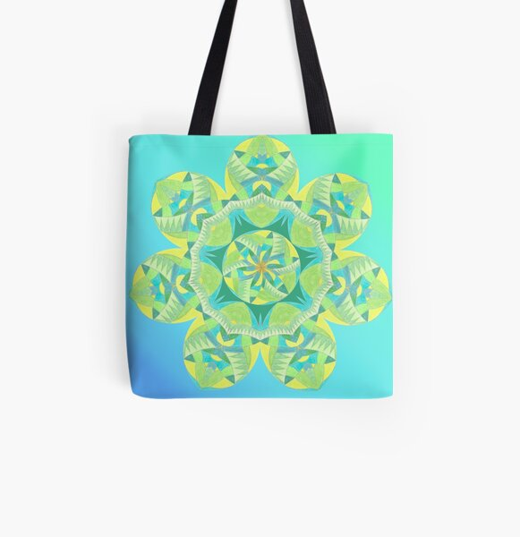 Grasshopper Katydid Leaves and Fauna Fall Into Winter Collection by Green Bee Mee All Over Print Tote Bag