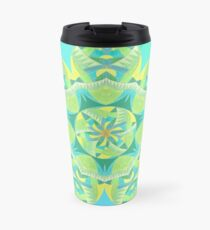 Grasshopper Katydid Leaves and Fauna Fall Into Winter Collection by Green Bee Mee Travel Mug
