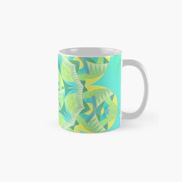 Grasshopper Katydid Leaves and Fauna Fall Into Winter Collection by Green Bee Mee Classic Mug