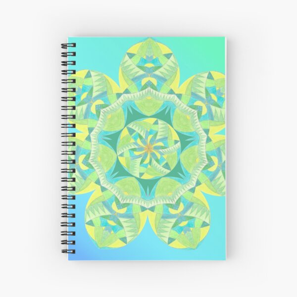 Grasshopper Katydid Leaves and Fauna Fall Into Winter Collection by Green Bee Mee Spiral Notebook