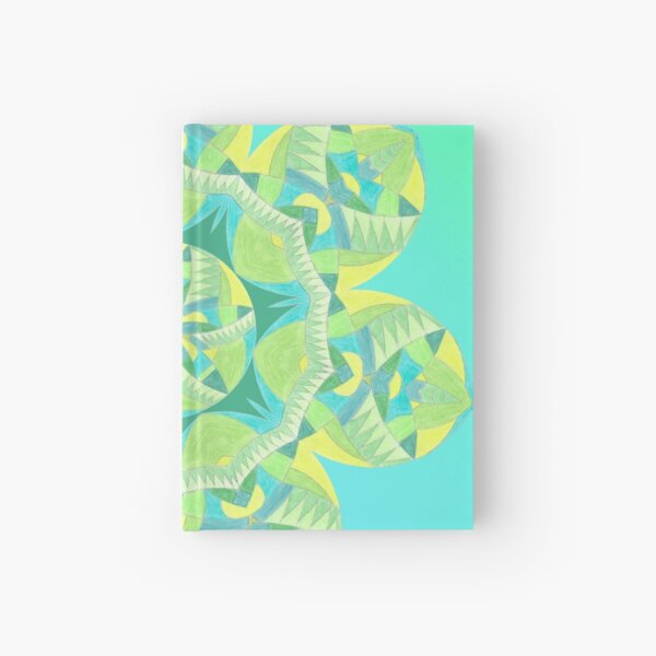 Grasshopper Katydid Leaves and Fauna Fall Into Winter Collection by Green Bee Mee Hardcover Journal