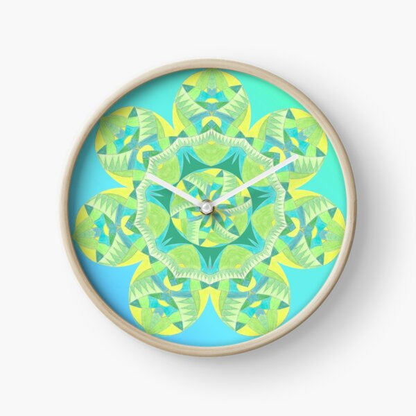 Grasshopper Katydid Leaves and Fauna Fall Into Winter Collection by Green Bee Mee Clock