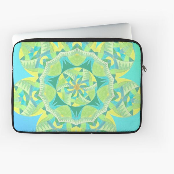 Grasshopper Katydid Leaves and Fauna Fall Into Winter Collection by Green Bee Mee Laptop Sleeve