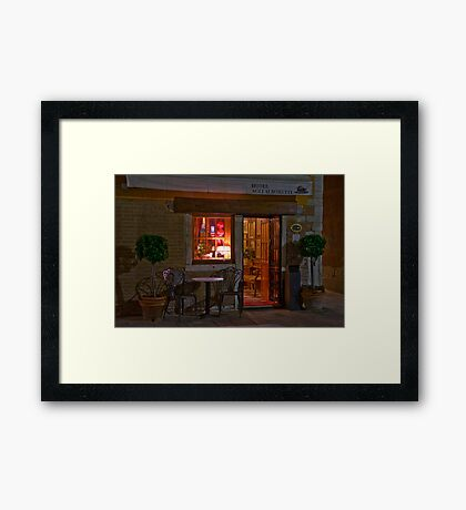 Can We Come In? Framed Print