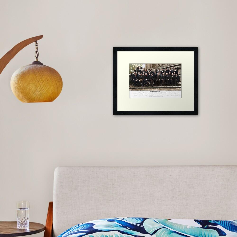 Solvay Conference  Framed Art Print