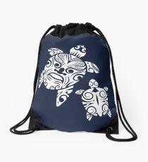 Dad and Me -Maori Turtle Papa and Baby - Gift Idea Drawstring Bag