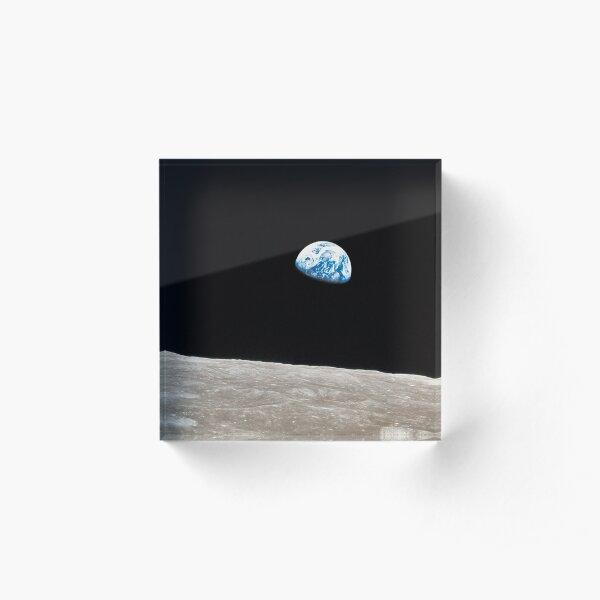 Earthrise Apollo 8 Acrylic Block