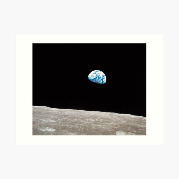 Earthrise Apollo 8 Art Print