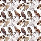 Owl Pattern by EllenorMererid