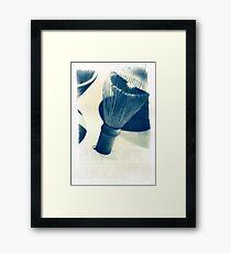 Cyanotype - chinese Shaving Brush Framed Print