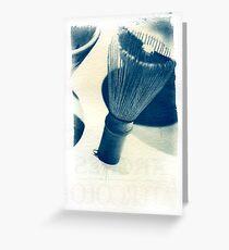 Cyanotype - chinese Shaving Brush Greeting Card