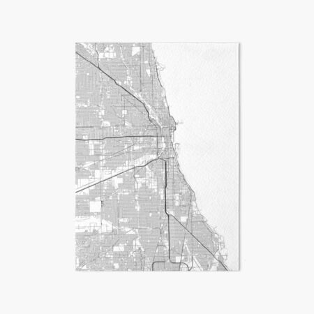 Map of Chicago University Campus Pictorial Birds-eye View Wall Art Poster Decor