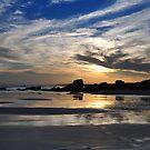 Moody Sunset - Redhead Beach NSW by Bev Woodman