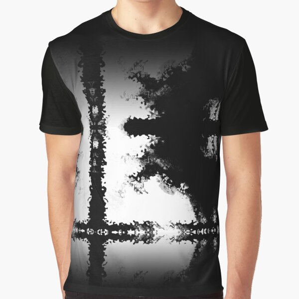 Black And White Cross Composition Graphic T-Shirt