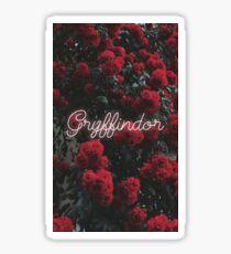 Gryffindor Flowers Sticker