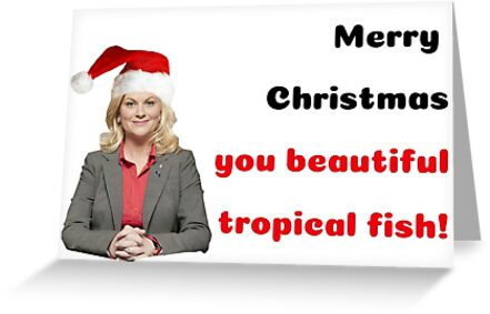 Parks and Recreation Christmas card, Leslie Knope, Ron Swanson, Xmas card, Quotes, Gifts, Meme greeting cards