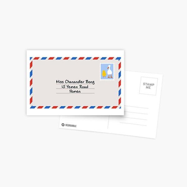 Miss Chanandler Bong Postcard