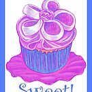 Purple Cupcake ~ Sweet! by Paula Parker
