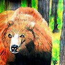 North American Grizzly Bear by JoAnnHayden