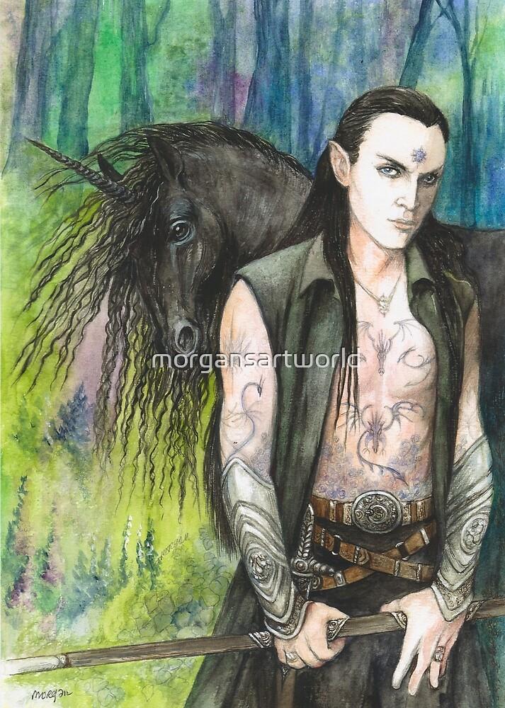 Blackthorn and his Unicorn by morgansartworld