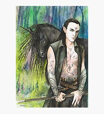 Blackthorn and his Unicorn Photographic Print