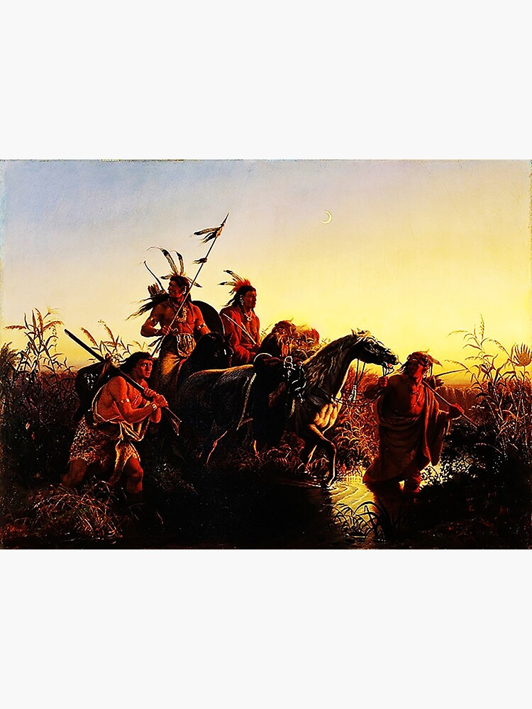 American Indians, by Karl Wimar  by edsimoneit