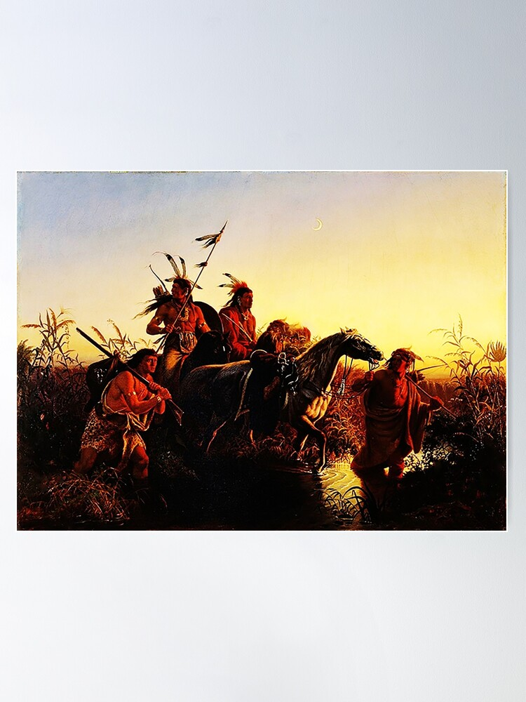 Alternate view of American Indians, by Karl Wimar  Poster