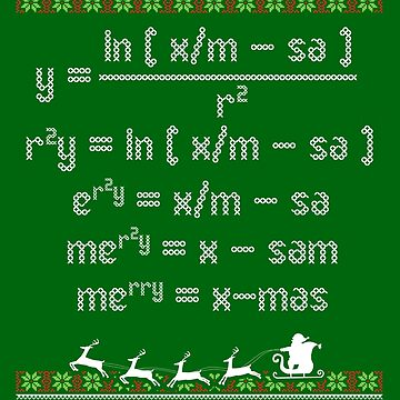 Merry Christmas Math Equation Ugly Christmas by bethcentral