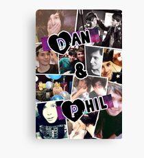 Dan und Phil Collage Leinwanddruck