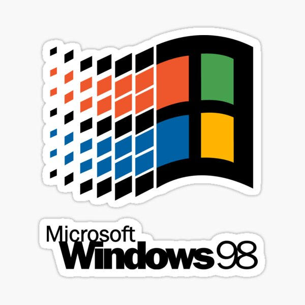 Microsoft Windows 98 Logo Sticker