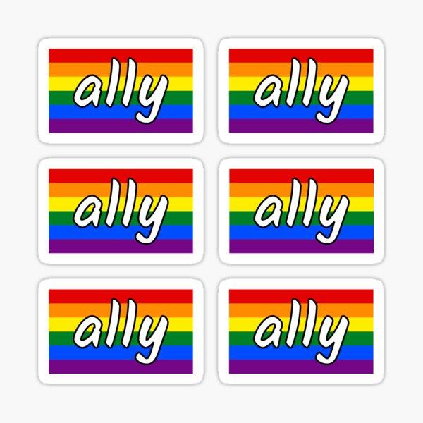 LGBTQIA+ Ally Flag Sticker Sheet Sticker