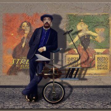 Vincent Gampolini & His Monociclo Volante by rgerhard