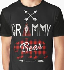 Grammy Bear Red Grammy Buffalo Plaid Family Christmas Camping Gift Graphic T-Shirt