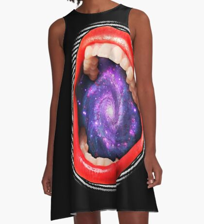 Cosmic Scream I A-Line Dress