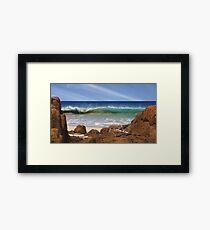 Wonderful wave action Framed Print
