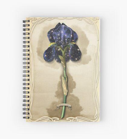 Night Iris Spiral Notebook