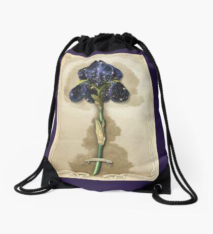 Night Iris Drawstring Bag