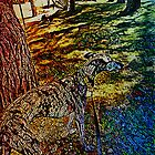 A Galgo Mosaic by Lisa Marie Mercer