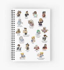 Yu-Gi-Oh Abridged Catchprases Spiral Notebook