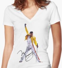 Freddie Women's Fitted V-Neck T-Shirt