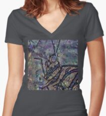 Lepidoptera 1 Women's Fitted V-Neck T-Shirt