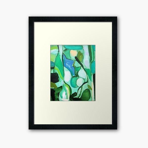 Aqua Birch Framed Art Print