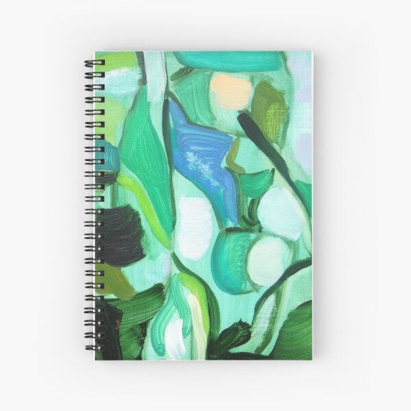 Aqua Birch Spiral Notebook