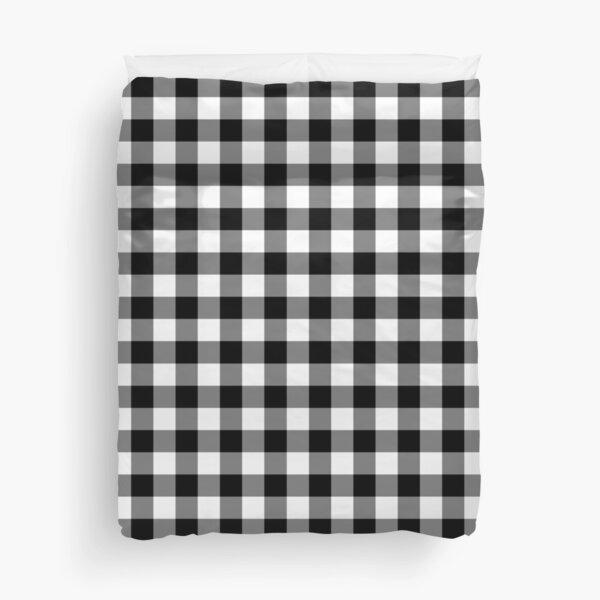Black and White Gingham Checked Pattern Duvet Cover